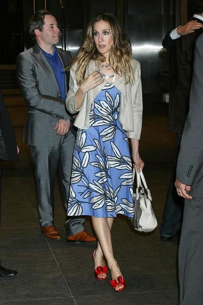 Sarah Jessica Parker arrives at the afterparty for the NY premiere of 'Then She Found Me.'