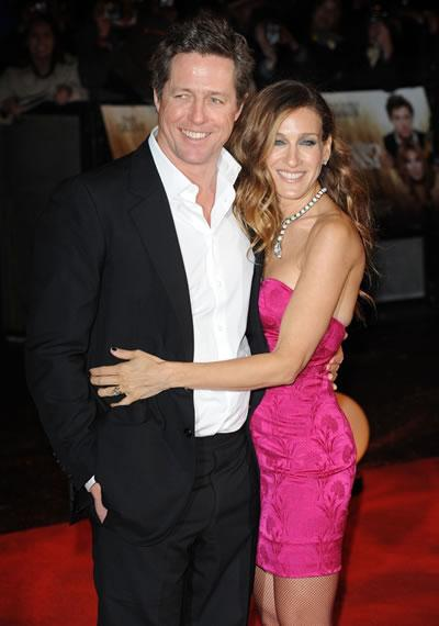 Sarah Jessica Parker and Hugh Grant at the London premiere of 'Did You Hear About the Morgans?'
