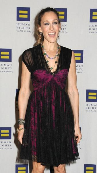 Sarah Jessica Parker arrives for the Human Rights Campaign Gala in NYC.