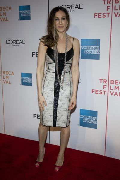 Sarah Jessica Parker at the Tribeca Film Festival premiere of 'Wonderful World.'