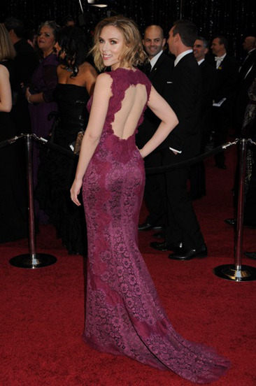 Named Sexiest Woman Alive, Scarlett Johansson has a super sexy rear, as well!