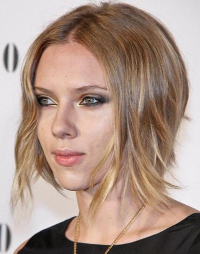 Bob hairstyles: Scarlett Johansson's chic, blonde hairstyle