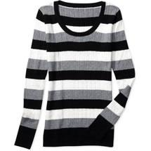 Faded Glory stripe cable scoop sweater