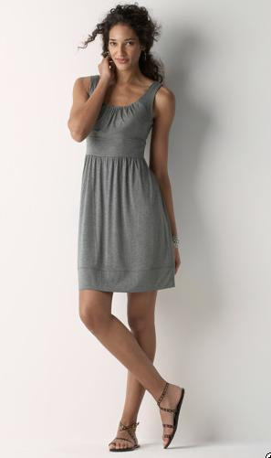 Scoopneck Knit Dress with Waistband