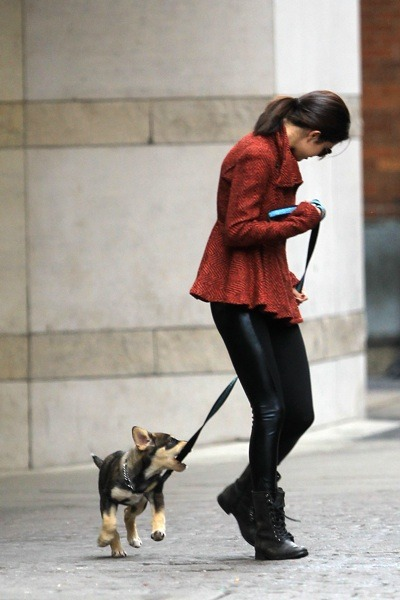 Selena Gomez walking her dog