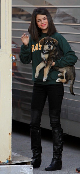 Selena Gomez with Baylor