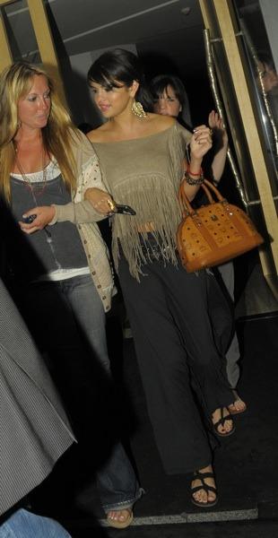 Selena Gomez in fringed top