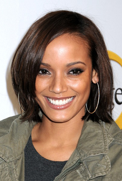 Model Selita Ebanks sported this short, fresh look perfect for fall at the ...