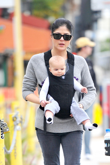 Selma Blair and her baby son go out and about in West Hollywood