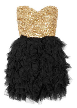 Sequin and ruffled tulle dress