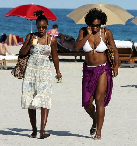 Serena Williams and Kelly Rowland