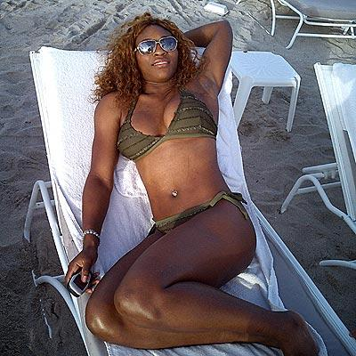 Serena Williams at the Beach