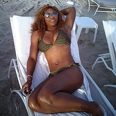 Serena Williams at the Beach
