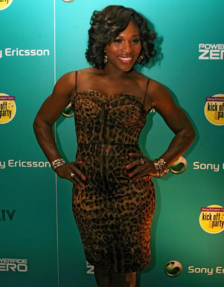 Serena Williams at the Sony Ericsson Open Kick Off Party