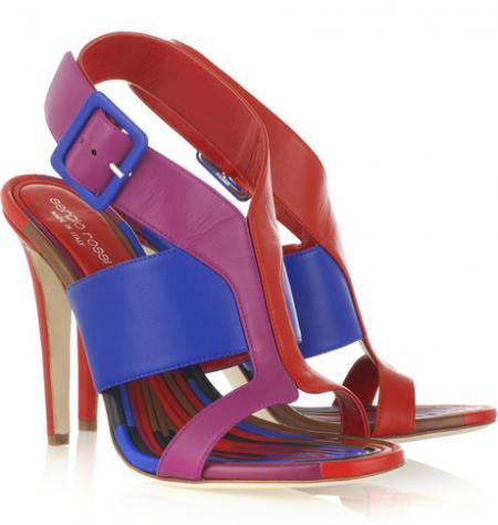 Sergio Rossi Color Block Sandals