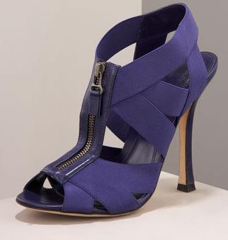 Sergio Rossi Narrow Zip Sandals