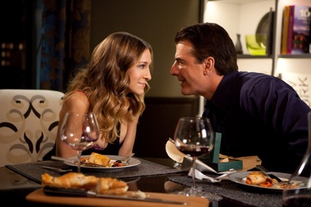 SJP and Chris Noth in Sex and the City 2