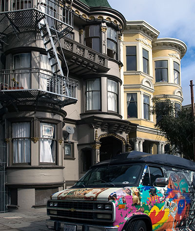 San Francisco historical site to visit: Alamo Square Historic District