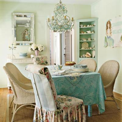 Shabby Chic with Turquoise Accents