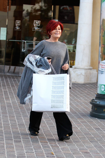 Sharon Osbourne goes shopping in Calabasas