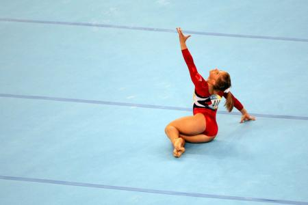 Shawn Johnson Floor Exercise
