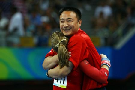 Shawn Johnson and Liang Chow