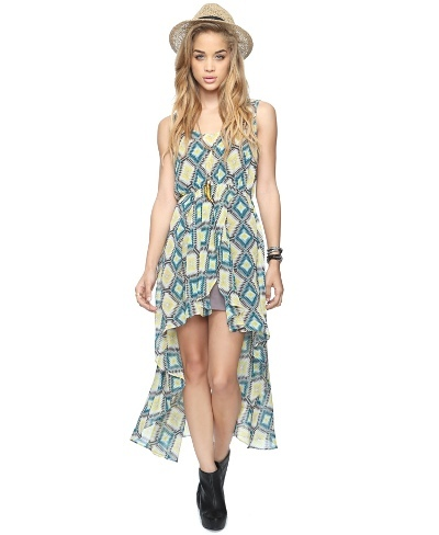 Southwest High-Low Dress