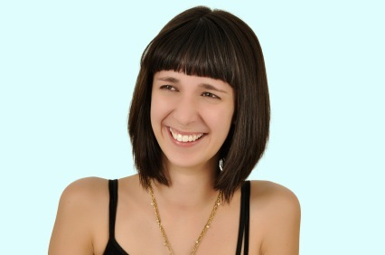 Quick and Easy - Classic Layered Bob with Blunt Bangs