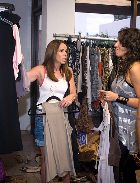 Melissa Rivers sharing styling tips