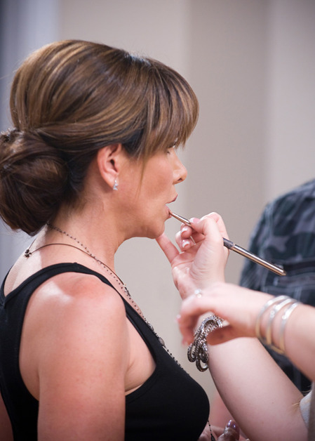 Melissa Rivers gets her makeup touched up