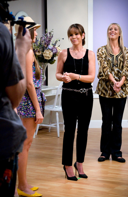 Melissa Rivers on the set of Style Showdown