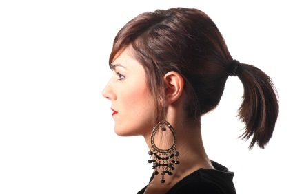 Easy Updos - Classic Ponytail with Side Parted Bangs