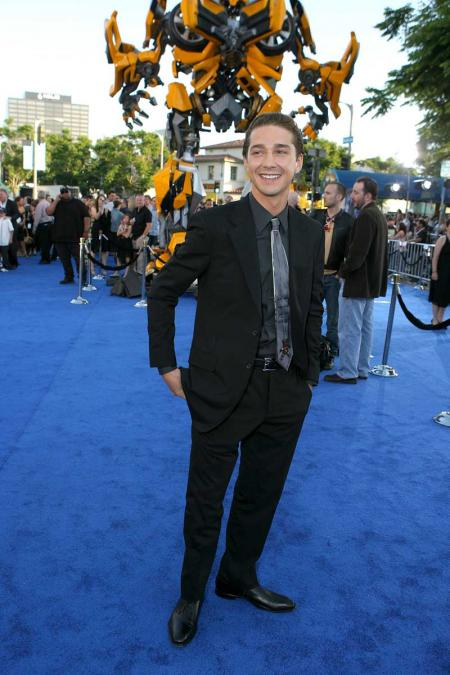 Shia LaBeouf transformers premiere