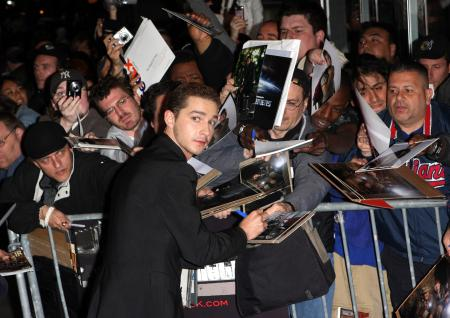 Shia LaBeouf world premiere