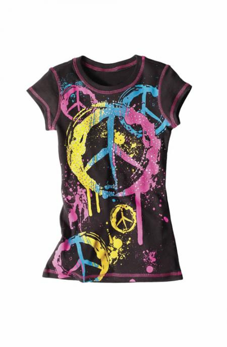 Short sleeves graphic tees for girls