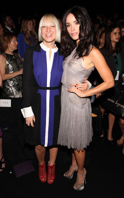 Sia Furler and Abigail Spencer