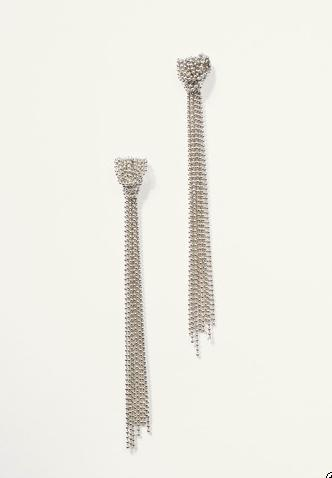 Silver Knotted Chain Earrings