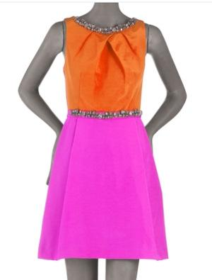 Single Embellished Colorblock Dress