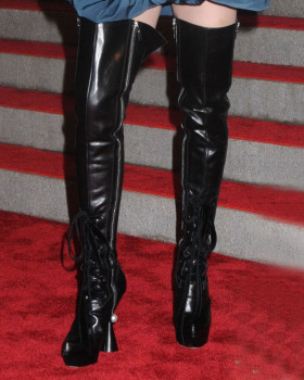 Madonna's statement, leather boots