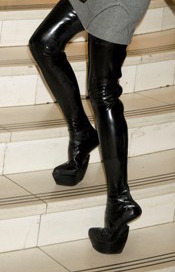 Victoria Beckham's black boot