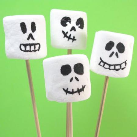 Marshmallow skeletons