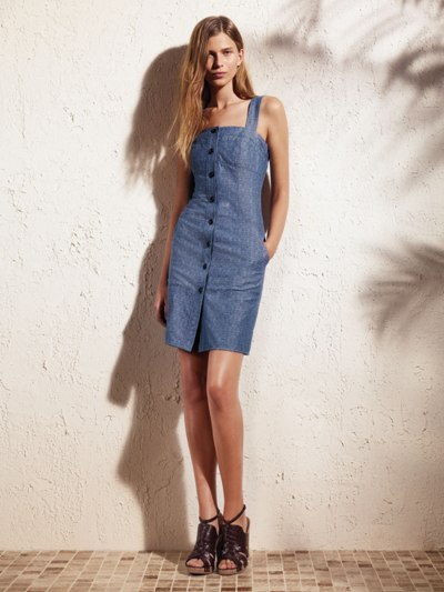 Slant pocket bra dress