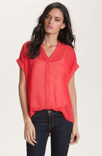 Red Haute Slouchy Shirt 