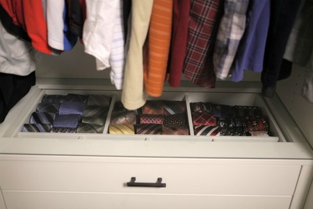 Master Bedroom Closet - Ties