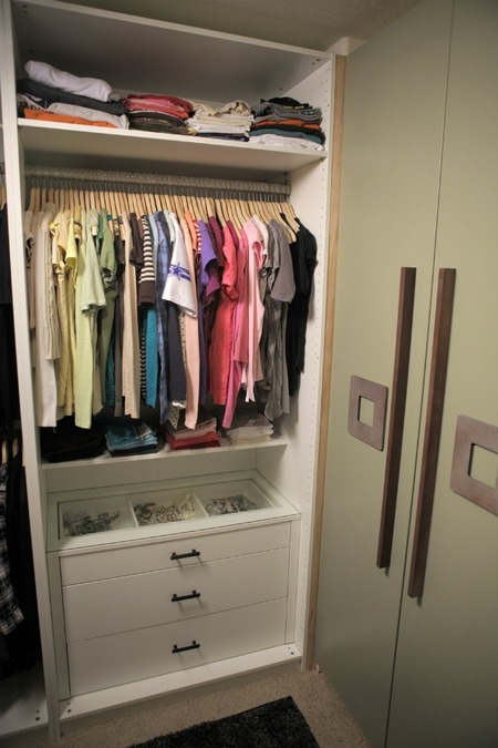 Master Bedroom Closet - Organized