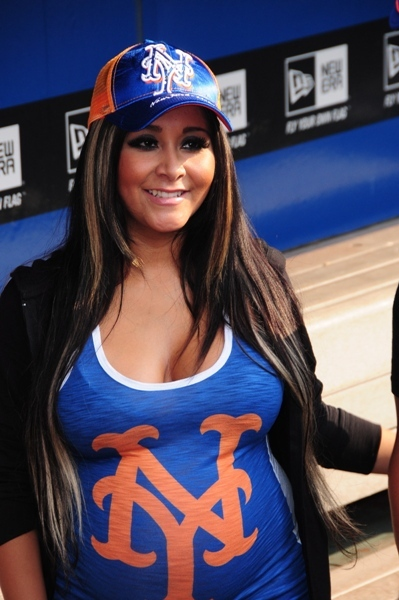 Snooki at New York Mets stadium