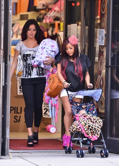 Snooki and JWoww practicing for the future