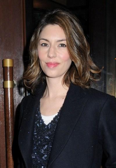 Sofia Coppola's wavy, brunette hairstyle