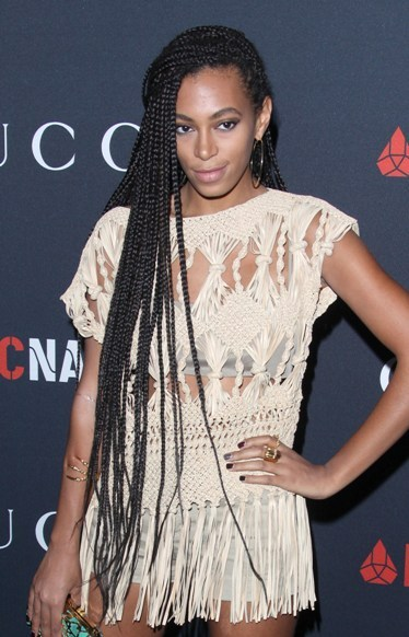 Solange Knowles' long, braided hairstyle