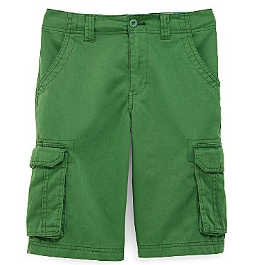 Solid-colored cargo shorts